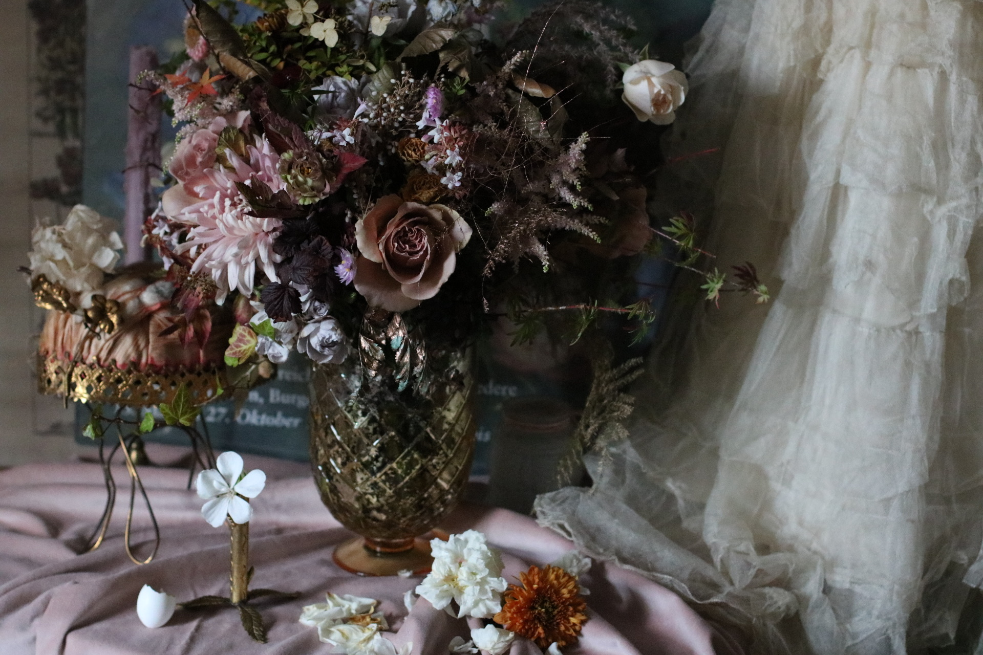 Saint Floral Autumn vintage wedding flowers