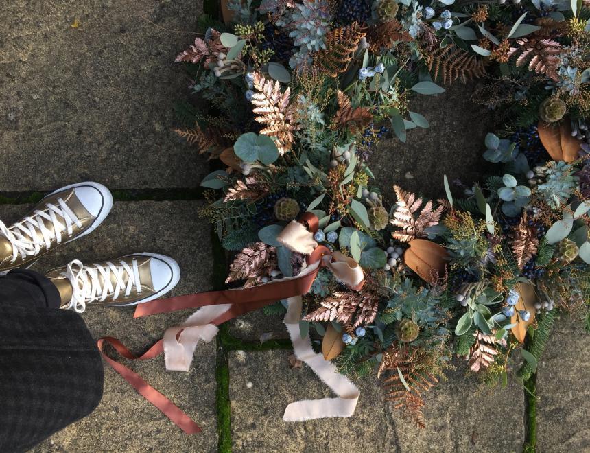 christmas wreath from saint floral, florist in newbury