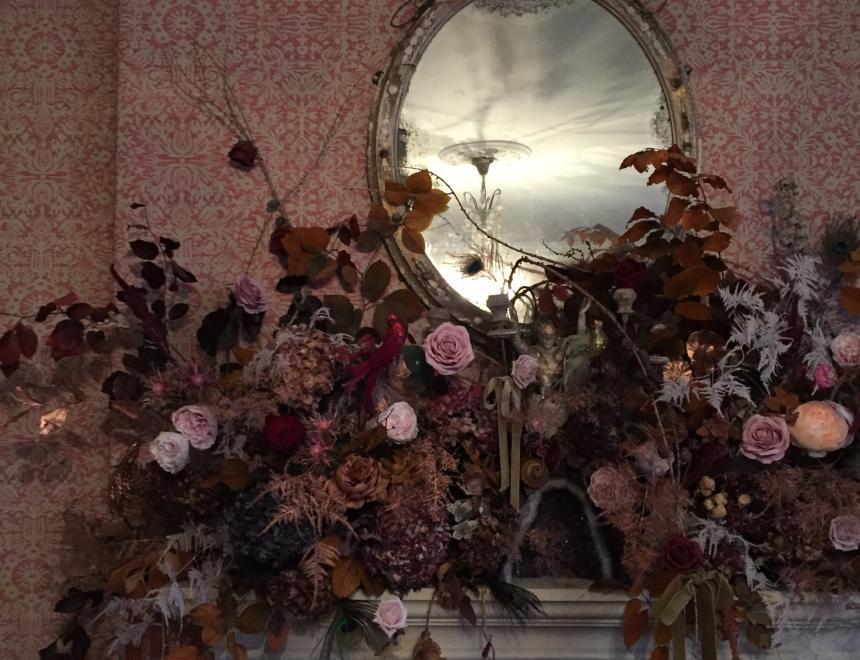 Saint Floral botanical mantelpiece for Pearl Lowe